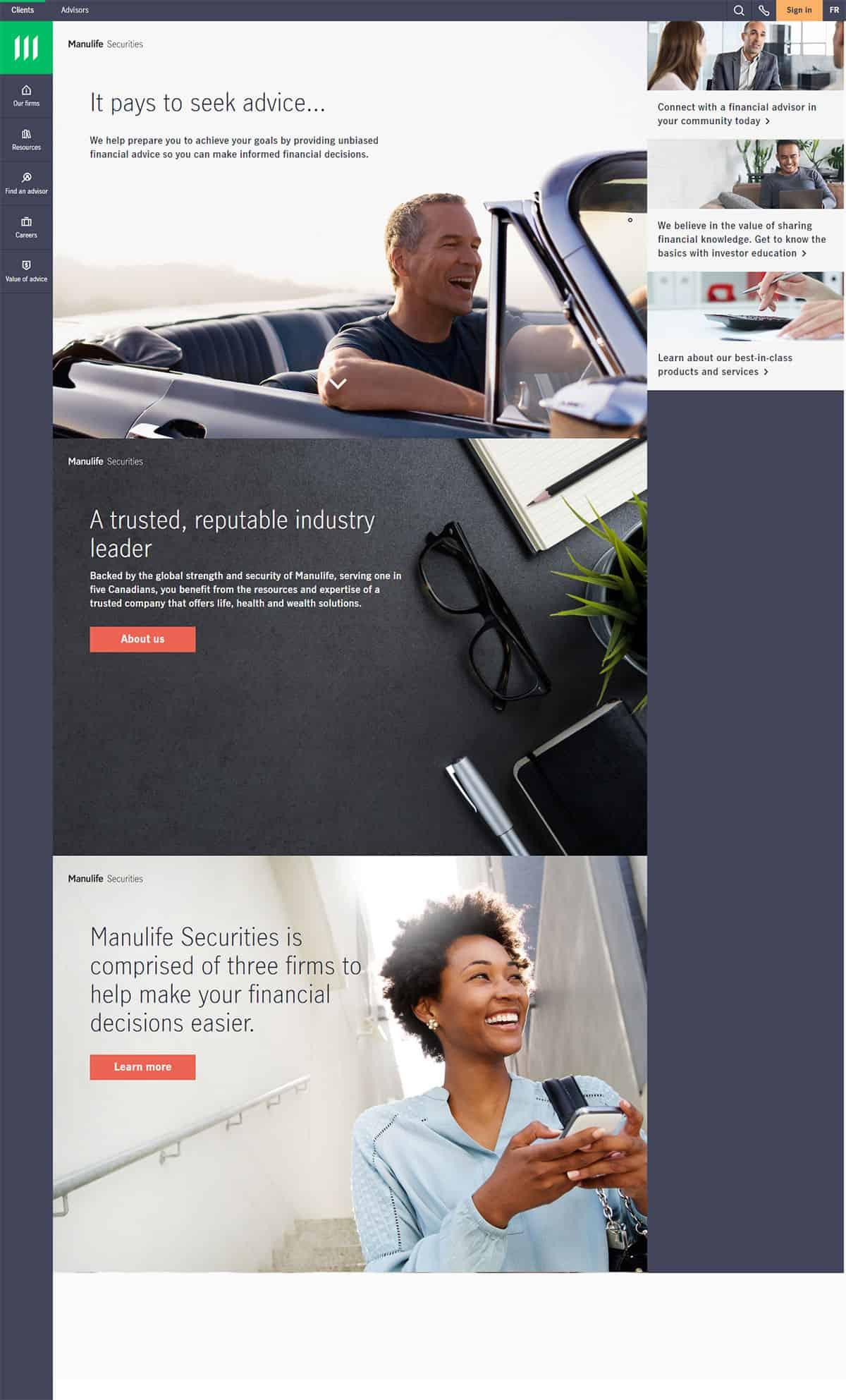 Manuvie Dorval Website